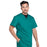 Cherokee Workwear Professionals WW695 Scrubs Top Men's V-Neck Hunter Green 5XL
