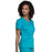 Cherokee Workwear Revolution WW710 Scrubs Top Women's V-Neck Teal Blue M