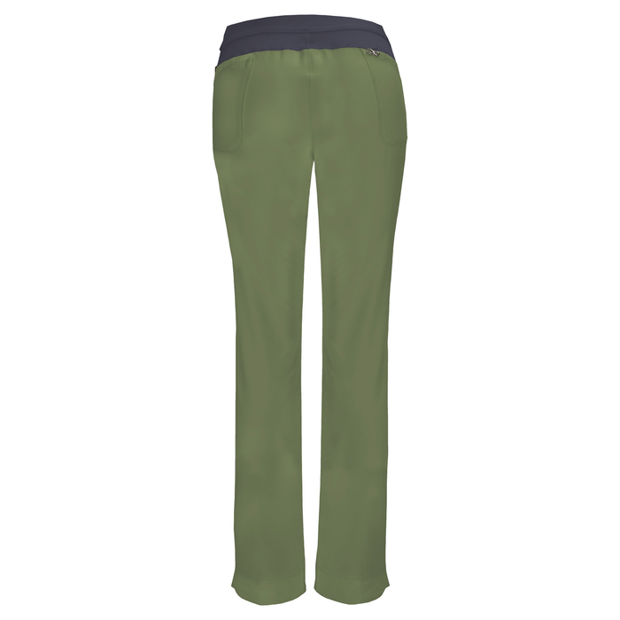 Cherokee Infinity 1124A Scrubs Pants Women's Low Rise Slim Pull-On Olive 3XL