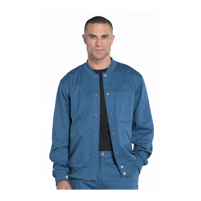 Cherokee Workwear Jackets WW Core Stretch Men's Men's Warm-up Jacket Caribbean Blue Jackets