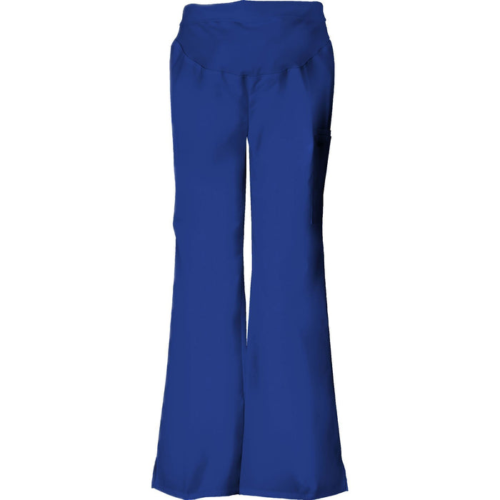 Cherokee Scrub Pants Flexibles Maternity Knit Waist Pull-On Pant Galaxy Blue Pant