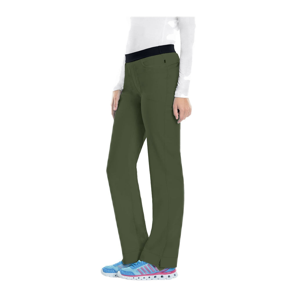 Cherokee Scrub Pants Infinity Low Rise Slim Pull-On Pant Olive Pant