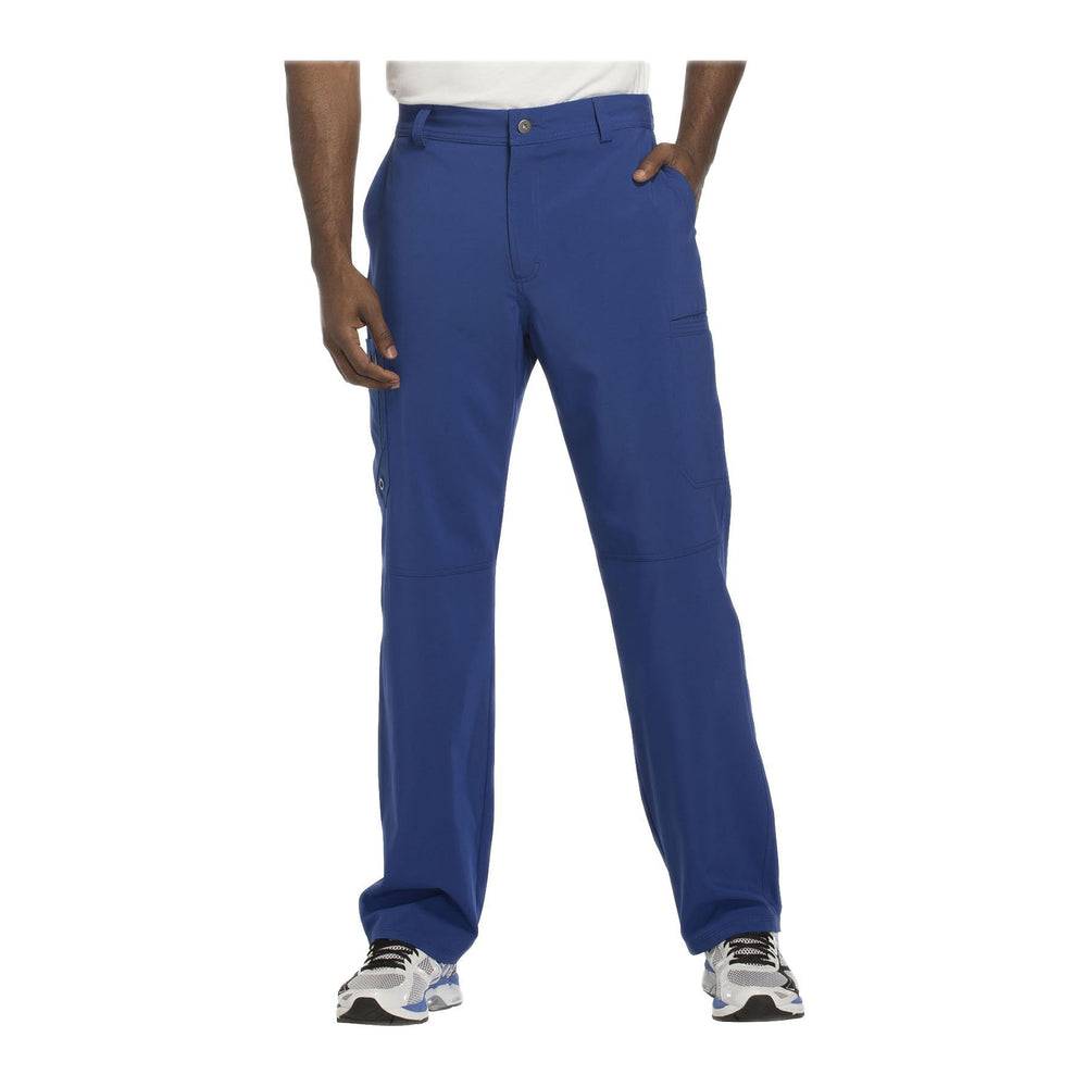 Cherokee Scrub Pants Infinity Men Fly Front Pant Galaxy Blue Pant