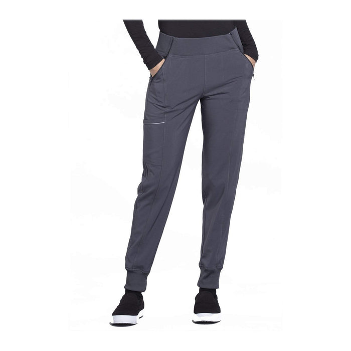Cherokee Scrub Pants Infinity Mid Rise Tapered Leg Jogger Pant Pewter Pant