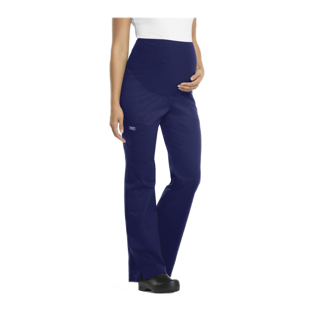 Cherokee Workwear Pant WW Core Stretch Maternity Knit Waist Pull-On Pant Navy Pant