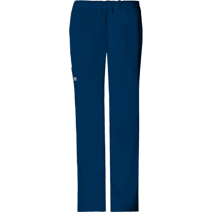 Cherokee Workwear Pant WW Core Stretch Mid Rise Drawstring Cargo Pant Navy Pant