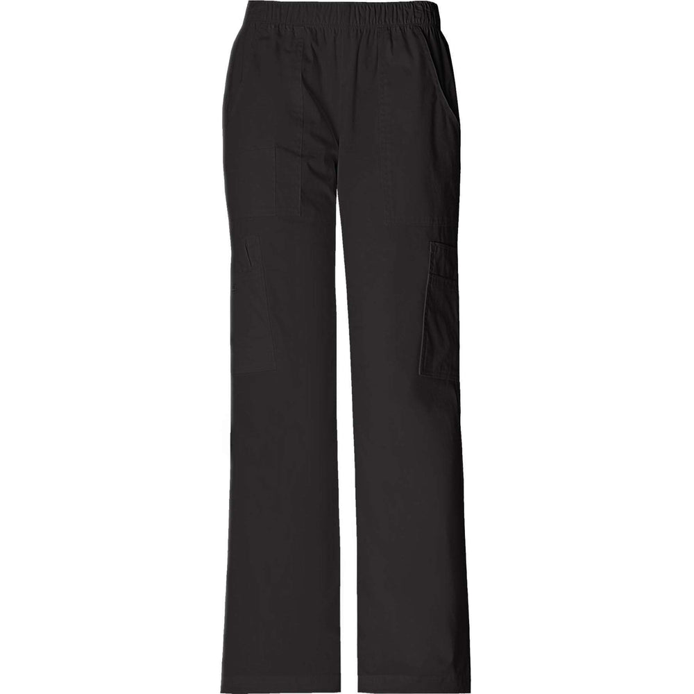 Cherokee Workwear Pant WW Core Stretch Mid Rise Pull-On Pant Cargo Pant Black Pant