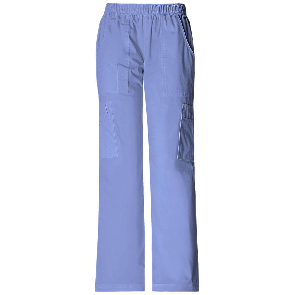 Cherokee Workwear Pant WW Core Stretch Mid Rise Pull-On Pant Cargo Pant Ciel Pant