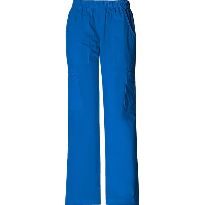 Cherokee Workwear Pant WW Core Stretch Mid Rise Pull-On Pant Cargo Pant Royal Pant