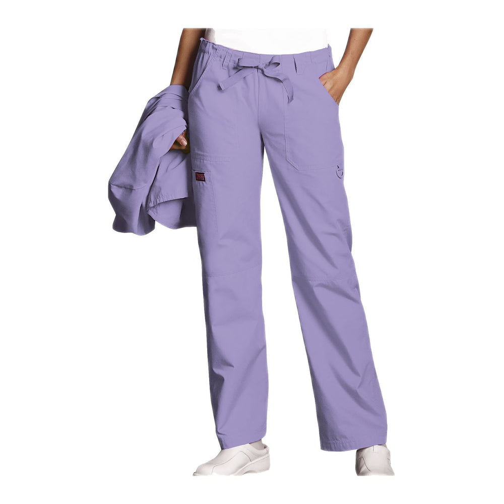 Cherokee Workwear Pant WW Low Rise Drawstring Cargo Pant Orchid Pant
