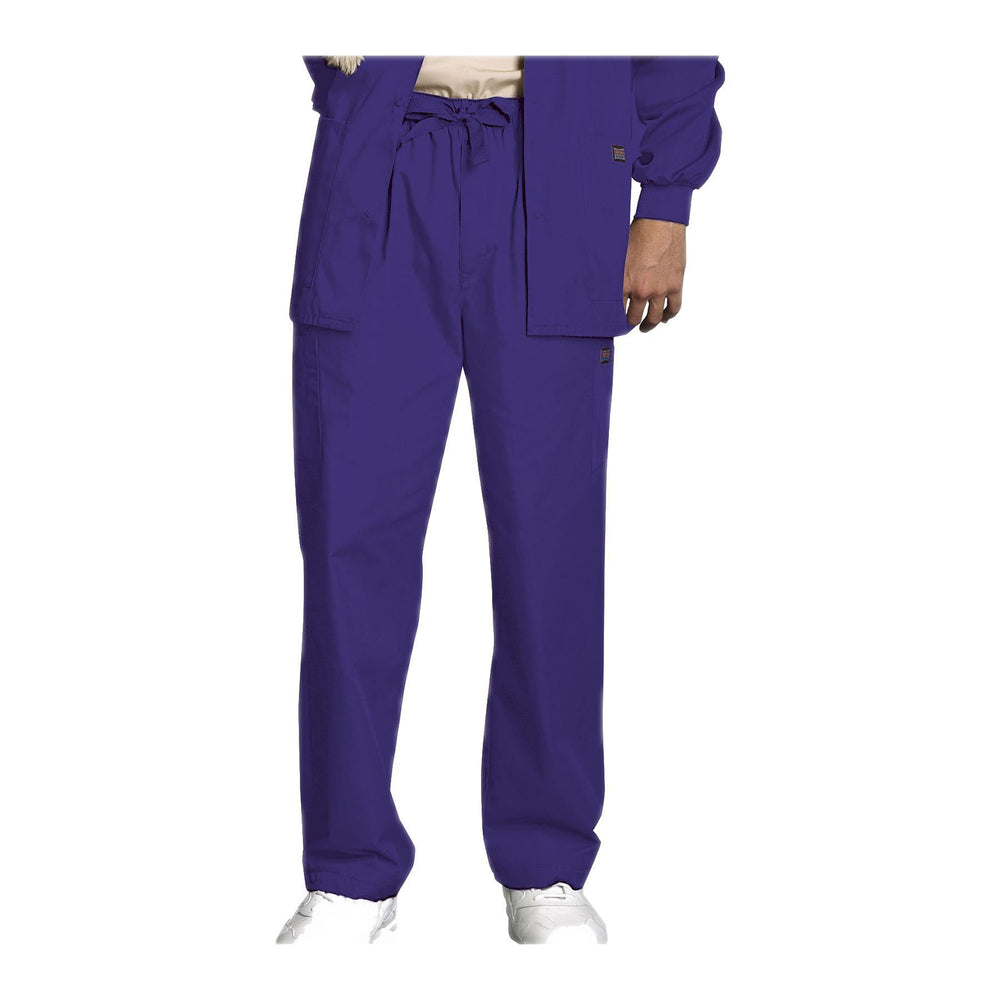 Cherokee Workwear Pant WW Men's Men's Drawstring Cargo Pant Grape Pant