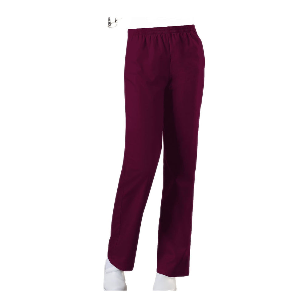 Cherokee Workwear Pant WW Natural Rise Tapered Leg Pull-On Pant Wine Pant