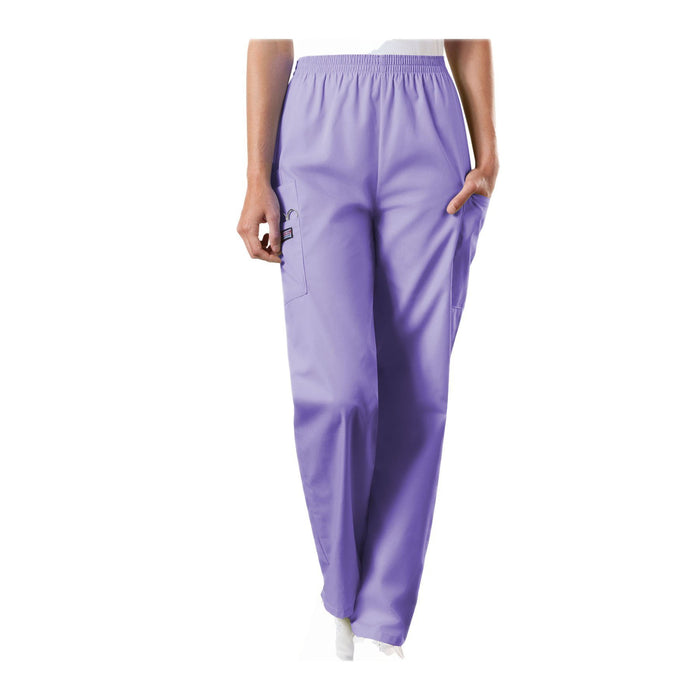 Cherokee Workwear Pant WW Natural Rise Tapered Pull-On Cargo Pant Orchid Pant