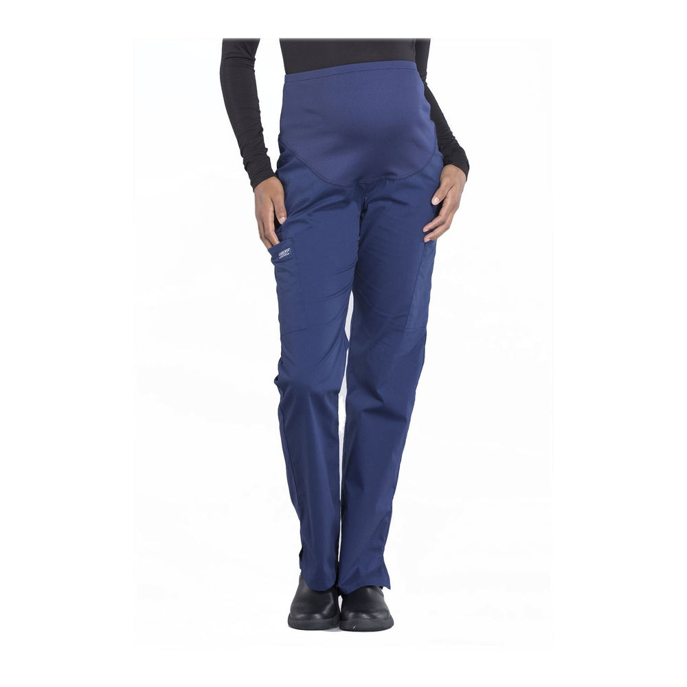 Cherokee Workwear Pant WW Professionals Maternity Straight Leg Pant Navy Pant