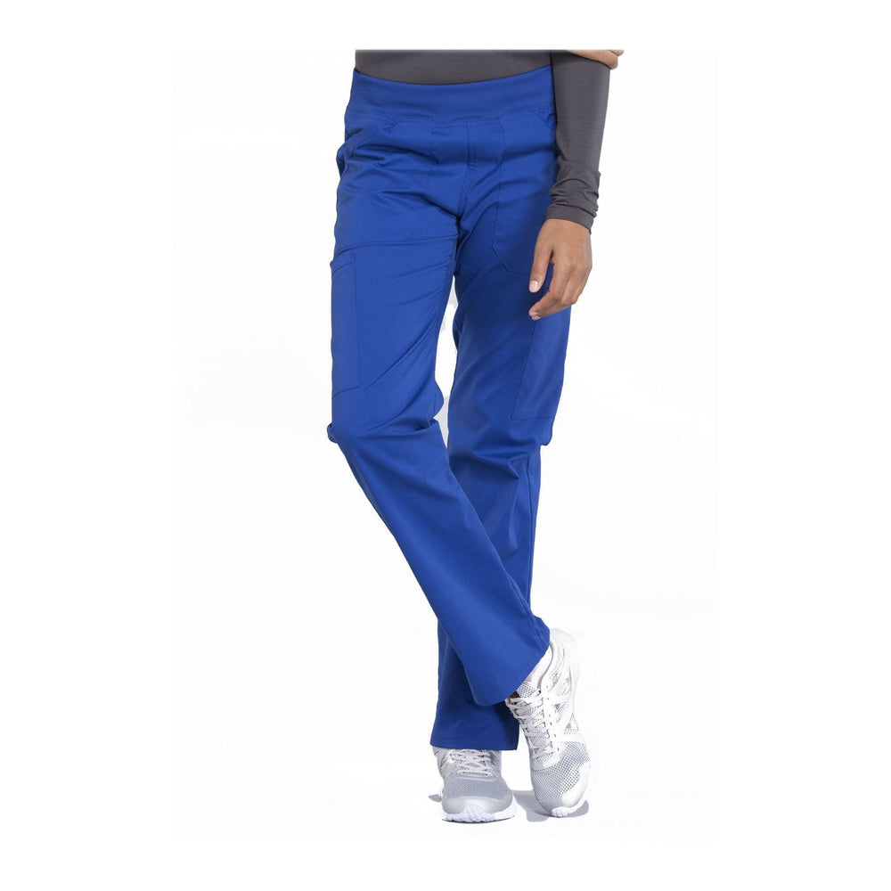 Cherokee Workwear Pant WW Professionals Mid Rise Straight Leg Pull-on Cargo Pant Galaxy Blue Pant