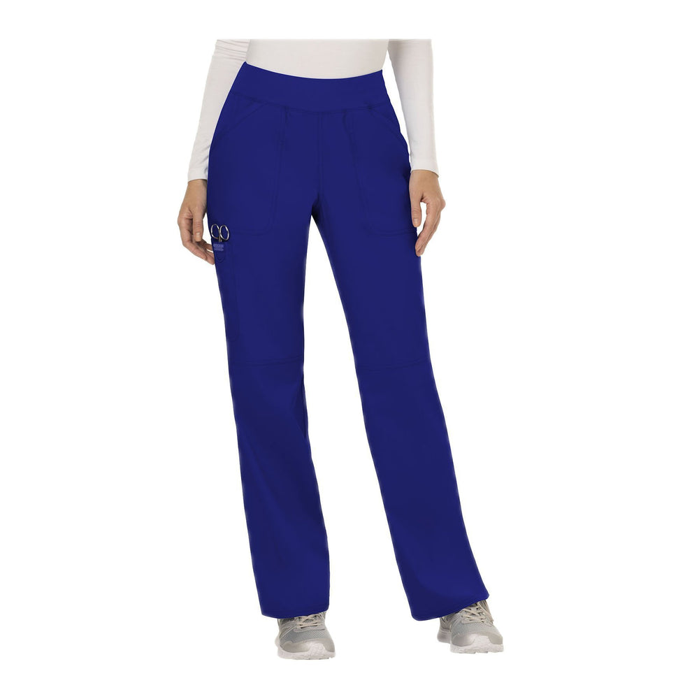 Cherokee Workwear Pant WW Revolution Mid Rise Straight Leg Pull-on Pant Galaxy Blue Pant