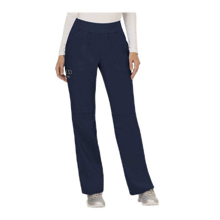 Cherokee Workwear Pant WW Revolution Mid Rise Straight Leg Pull-on Pant Navy Pant