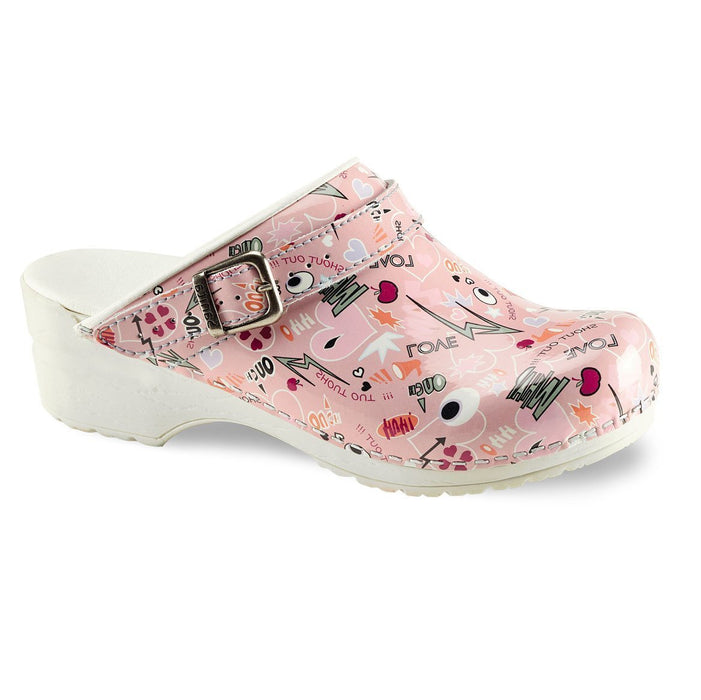 Sanita ShoutOut Clog Open Heel White
