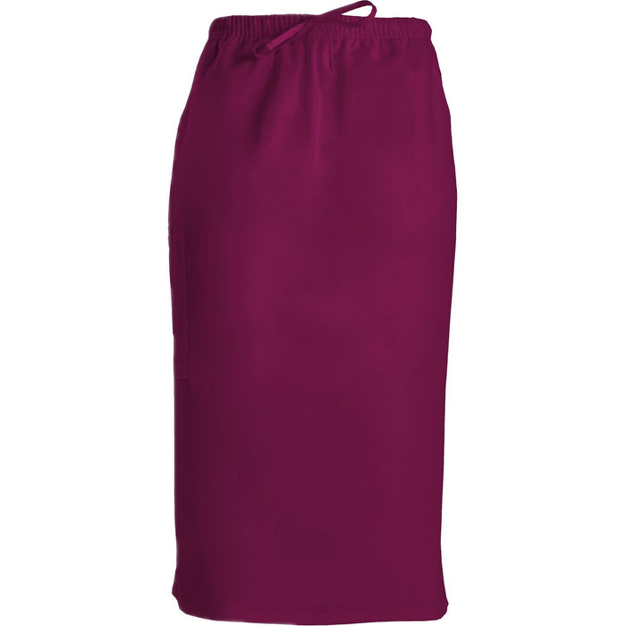 "Cherokee Workwear Skirt WW 30"" Drawstring Skirt Wine Skirt"