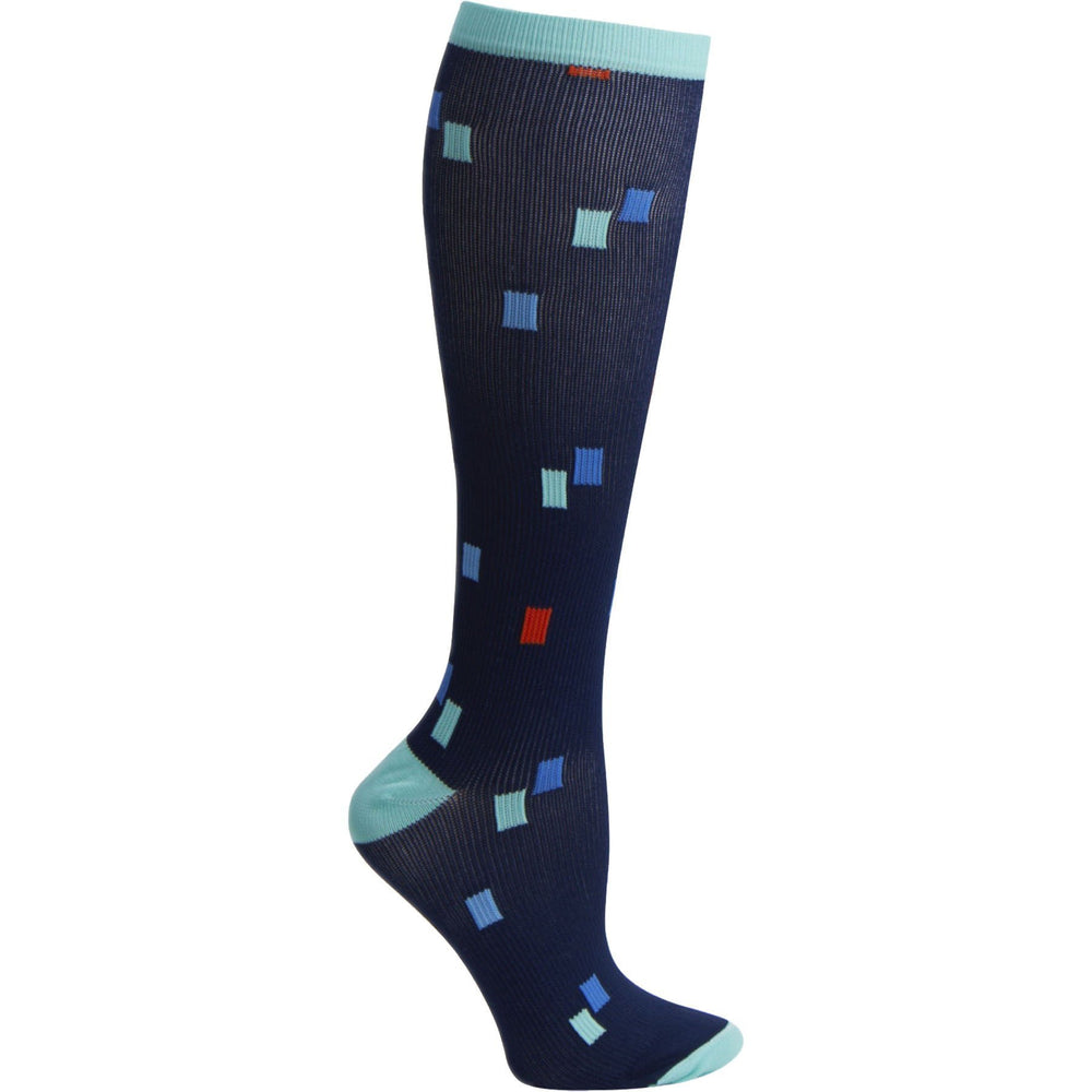 Cherokee Socks/Hosiery True Support 12 mmHg Support Socks Dots Squared Socks/Hosiery