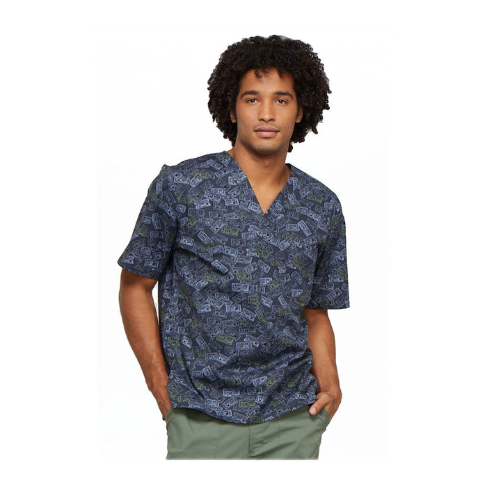 Cherokee Scrub Top Cherokee Genuine Men's V-Neck Top Sports Fanatic Top