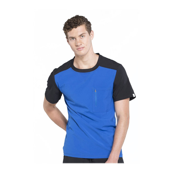 Cherokee Scrub Top Infinity Men Colorblock Crew Neck Top Royal Top