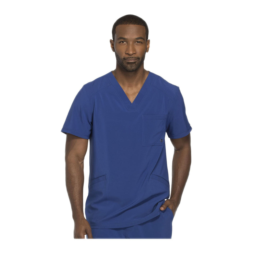 Cherokee Scrub Top Infinity Men V-Neck Top Galaxy Blue Top