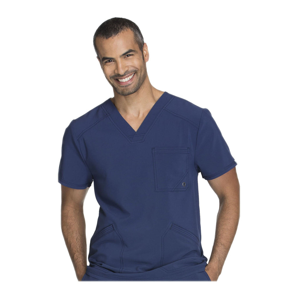 Cherokee Scrub Top Infinity Men V-Neck Top Navy Top