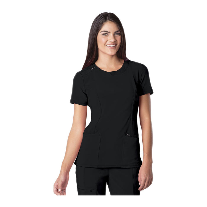 Cherokee Scrub Top Infinity Round Neck Top Black Top