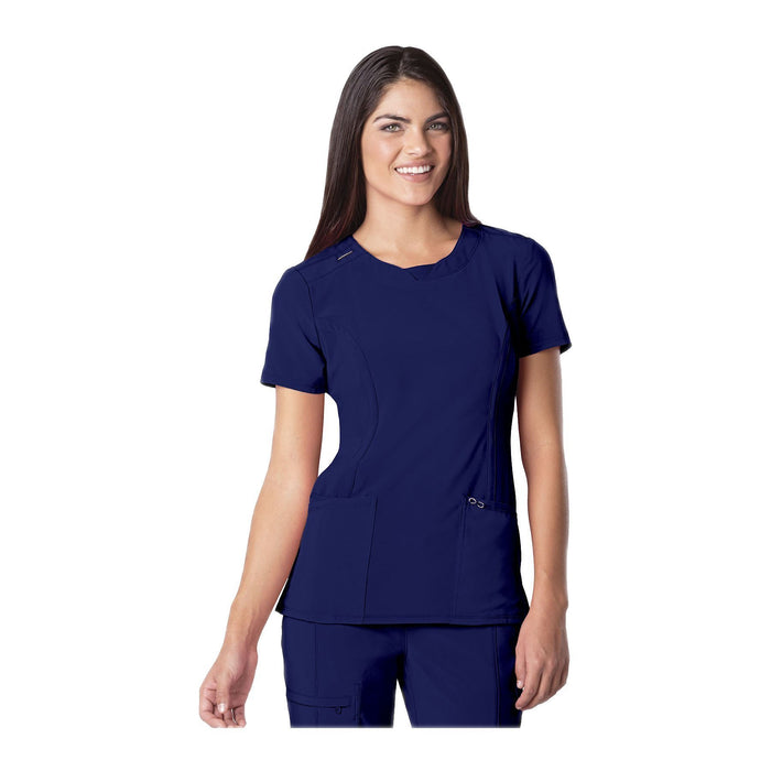 Cherokee Scrub Top Infinity Round Neck Top Galaxy Blue Top