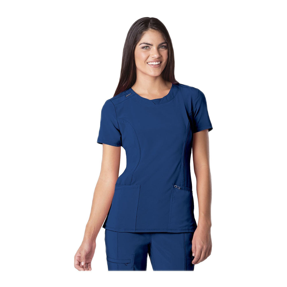 Cherokee Scrub Top Infinity Round Neck Top Royal Top