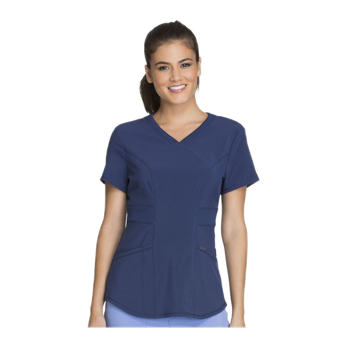 Cherokee Scrub Top Infinity V-Neck Top Navy Top