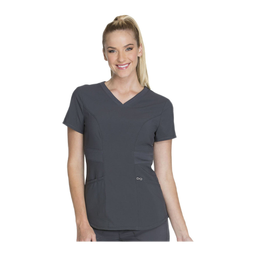 Cherokee Scrub Top Infinity V-Neck Top Pewter Top