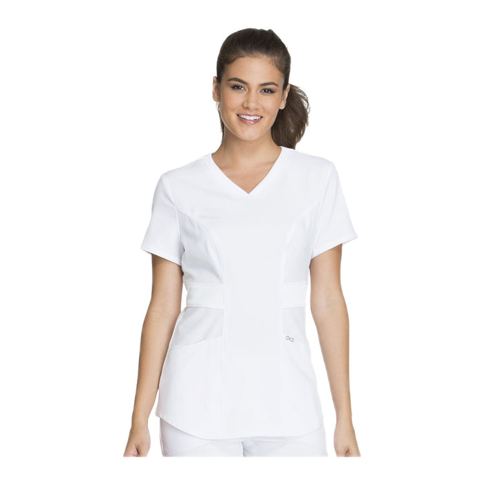 Cherokee Scrub Top Infinity V-Neck Top White Top