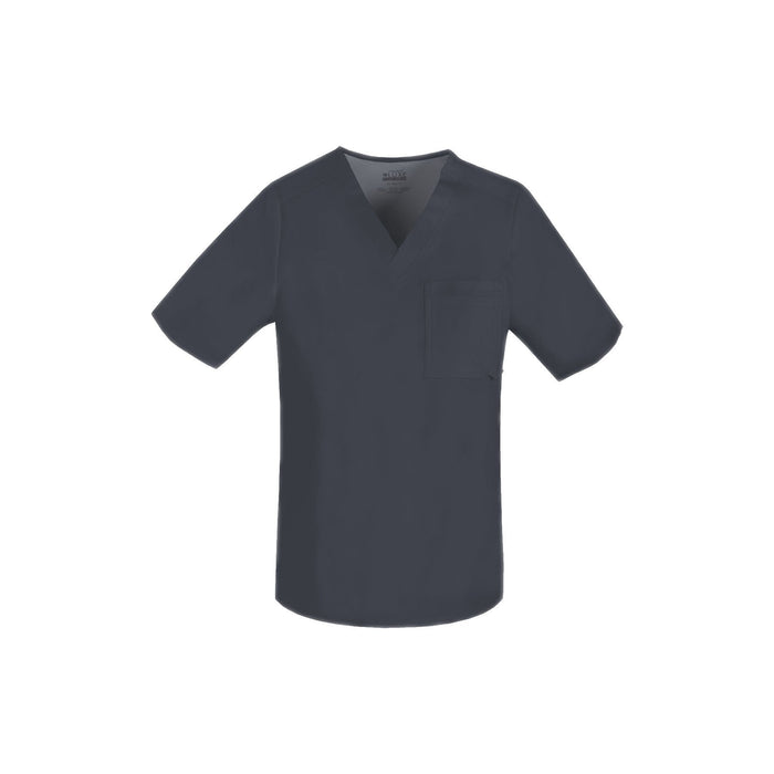 Cherokee Scrub Top Luxe for Men V-Neck Top Pewter Top