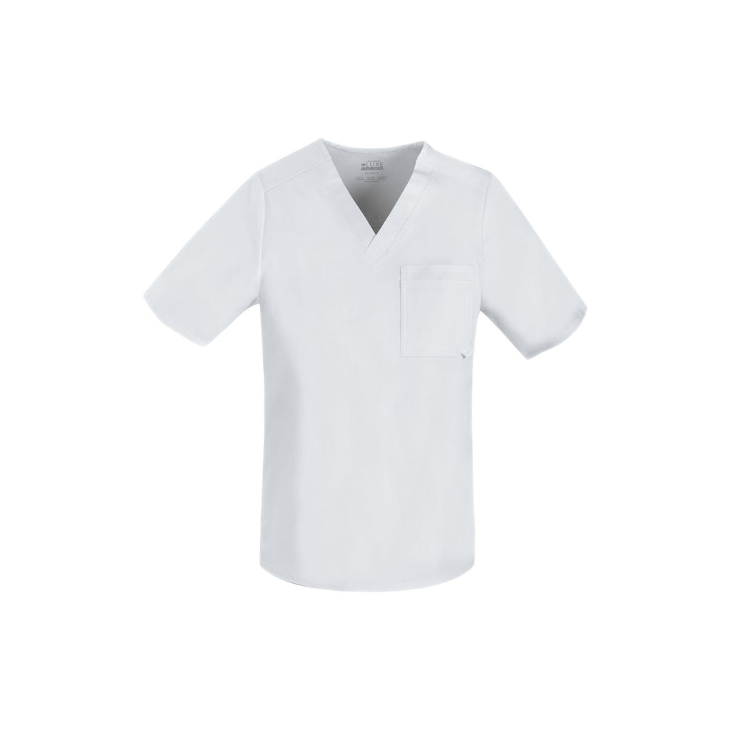 Cherokee Scrub Top Luxe for Men V-Neck Top White Top