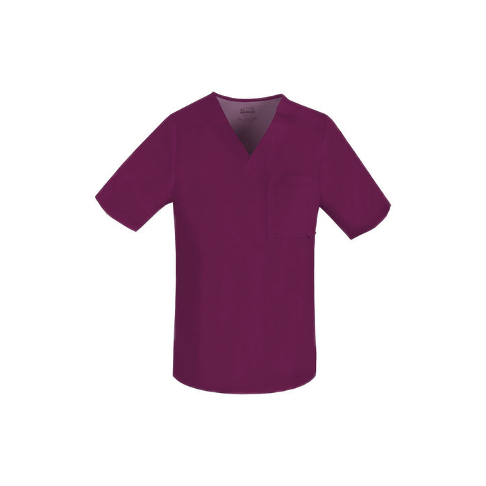 Cherokee Scrub Top Luxe for Men V-Neck Top Wine Top
