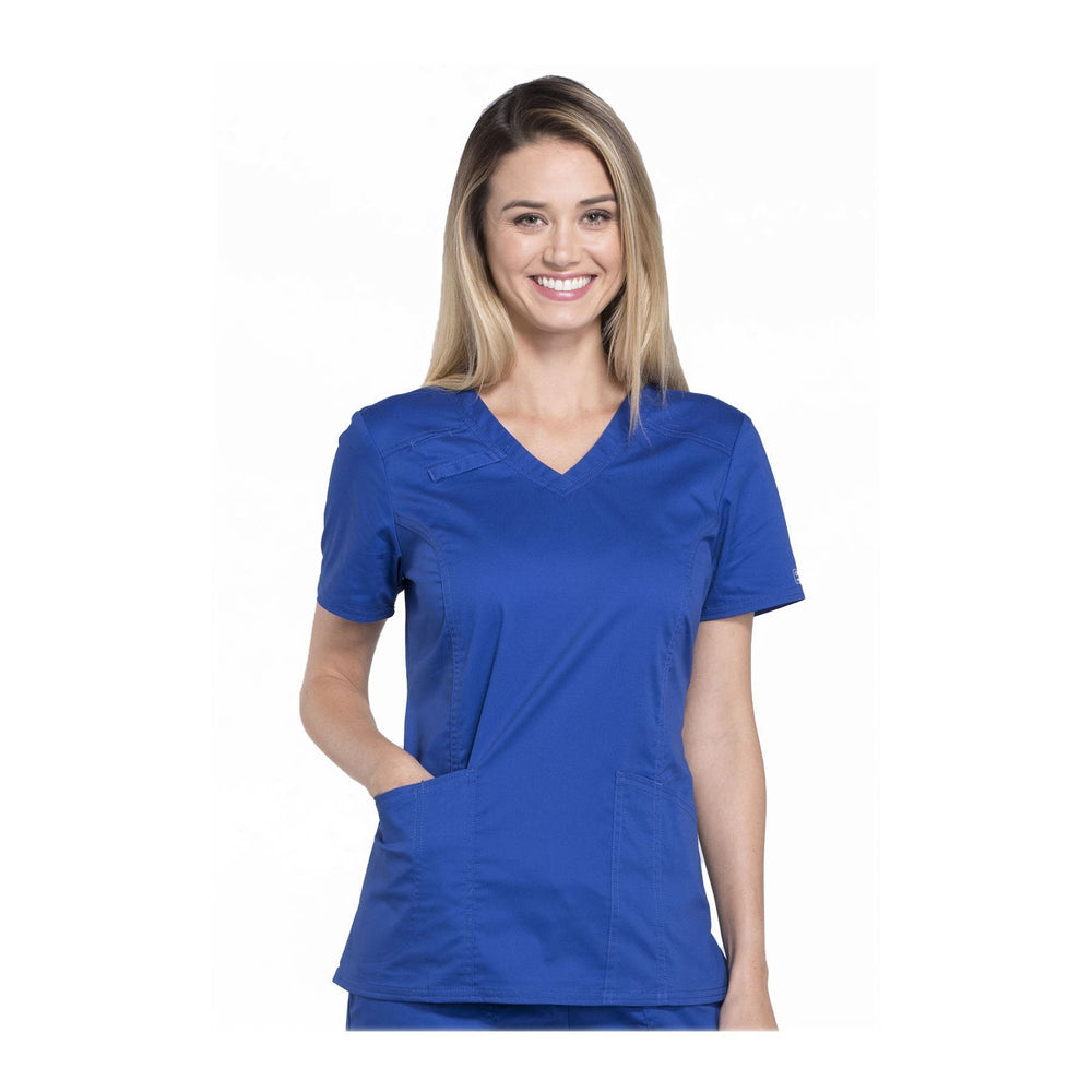 Cherokee Scrubs Workwear 4710 WW Core Stretch Top Modern Classic Galaxy Blue Top