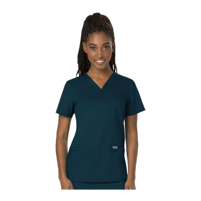 Cherokee Scrubs Workwear WW620 WW Revolution Top Modern Classic Caribbean Blue Top