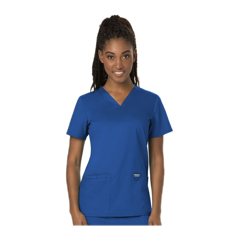 Cherokee Scrubs Workwear WW620 WW Revolution Top Modern Classic Royal Top