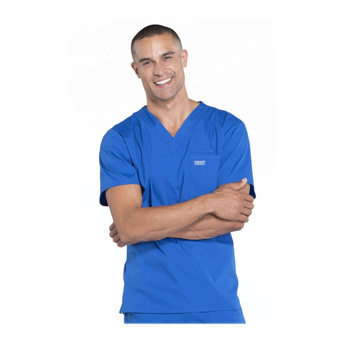 Cherokee Scrubs Workwear WW675 WW Professionals Mens Top Mens Royal Top