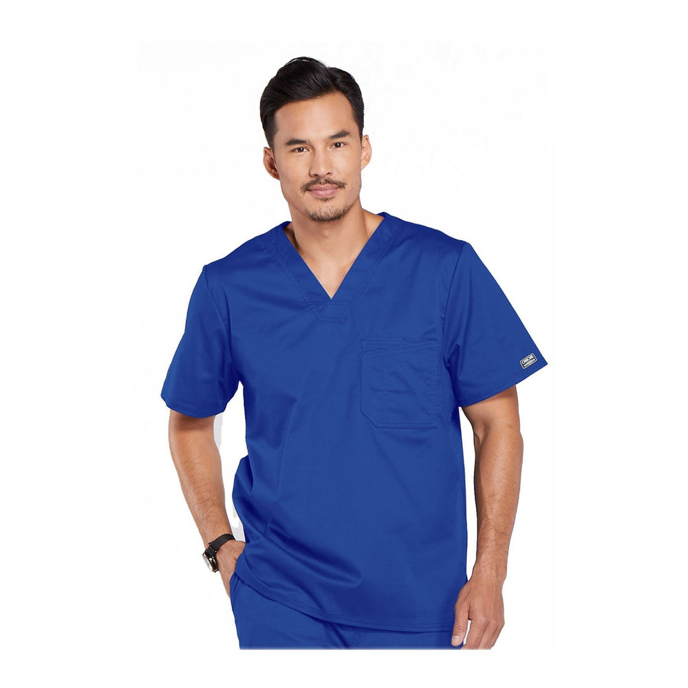 Cherokee Workwear Top WW Core Stretch Men's Men's V-Neck Top Royal Top