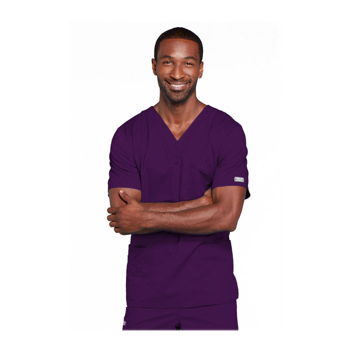Cherokee Workwear Top WW Core Stretch Unisex Unisex V-Neck Top Eggplant Top