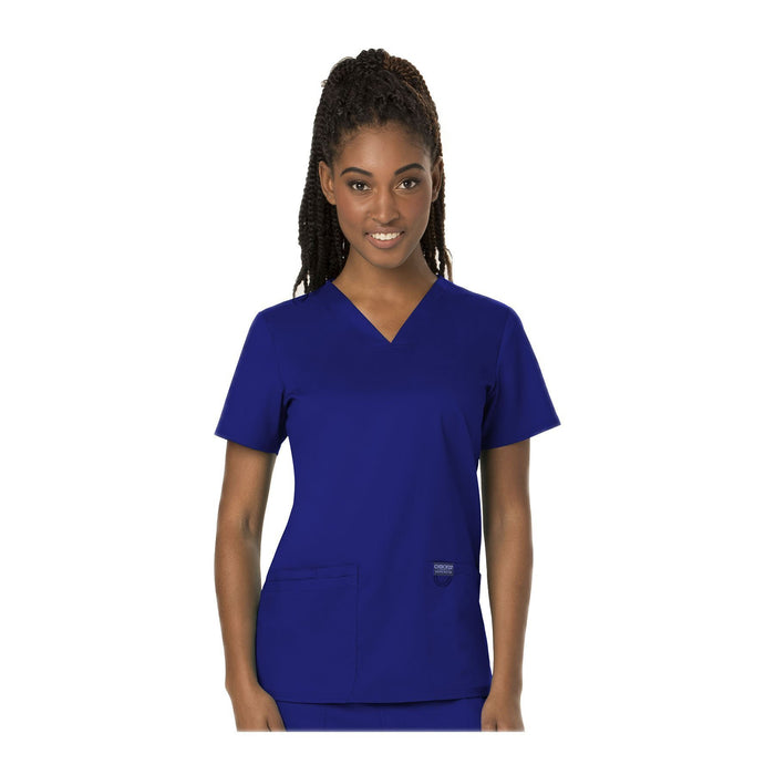 Cherokee Workwear Top WW Revolution V-Neck Top Galaxy Blue Top