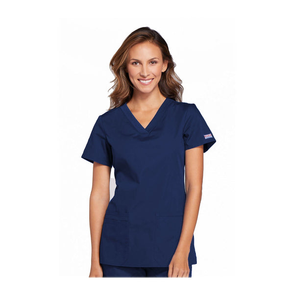 Cherokee Workwear Top WW V-Neck Top Navy Top