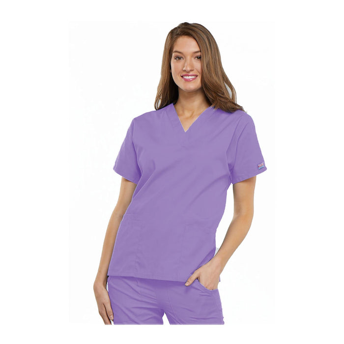 Cherokee Workwear Top WW V-Neck Top Orchid Top
