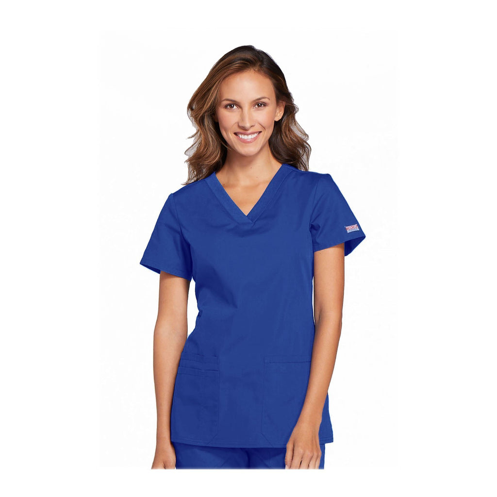 Cherokee Workwear Top WW V-Neck Top Royal Top