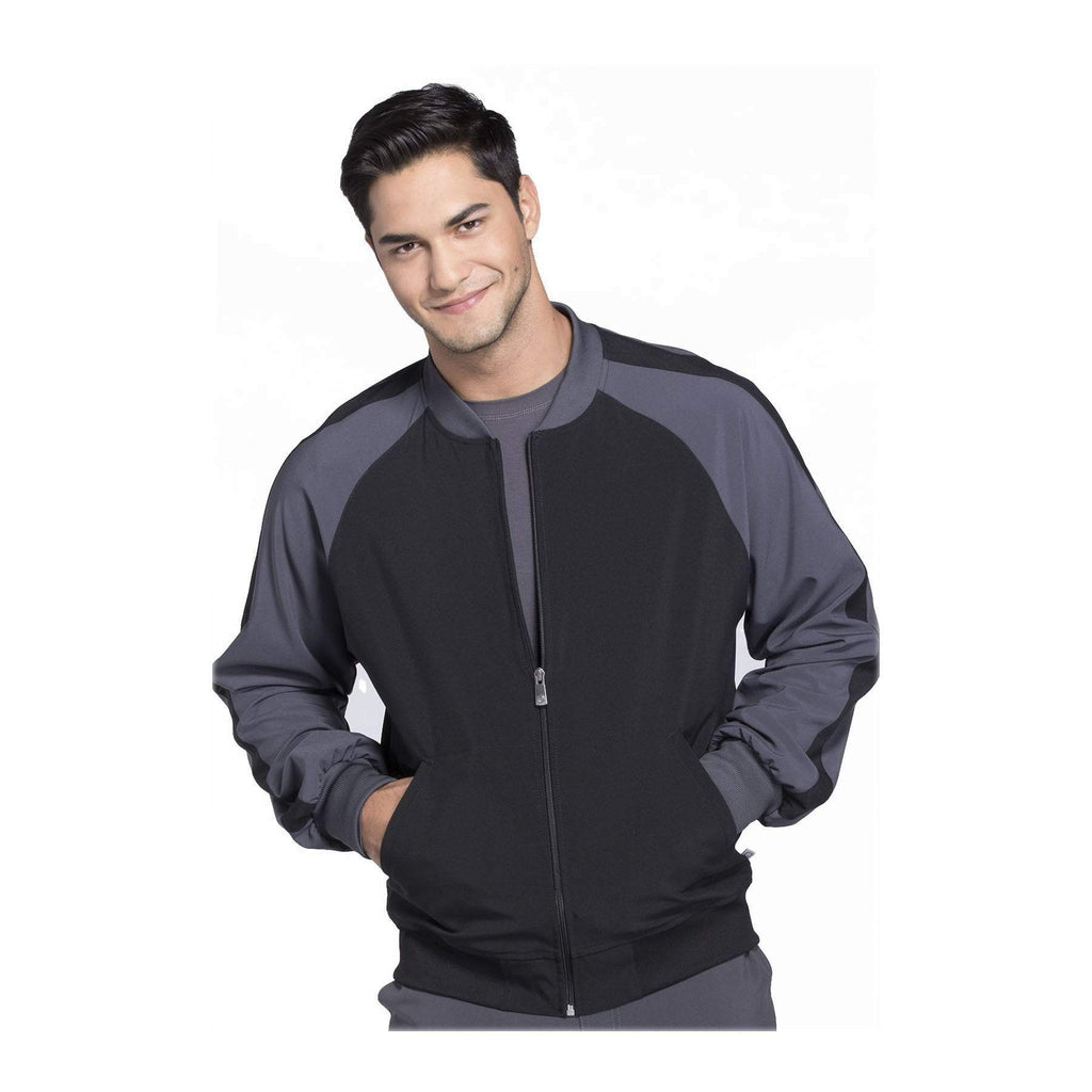 Cherokee Warm Up Jacket Infinity Men Colorblock Zip Up Warm-Up Jacket Black Warm Up Jacket