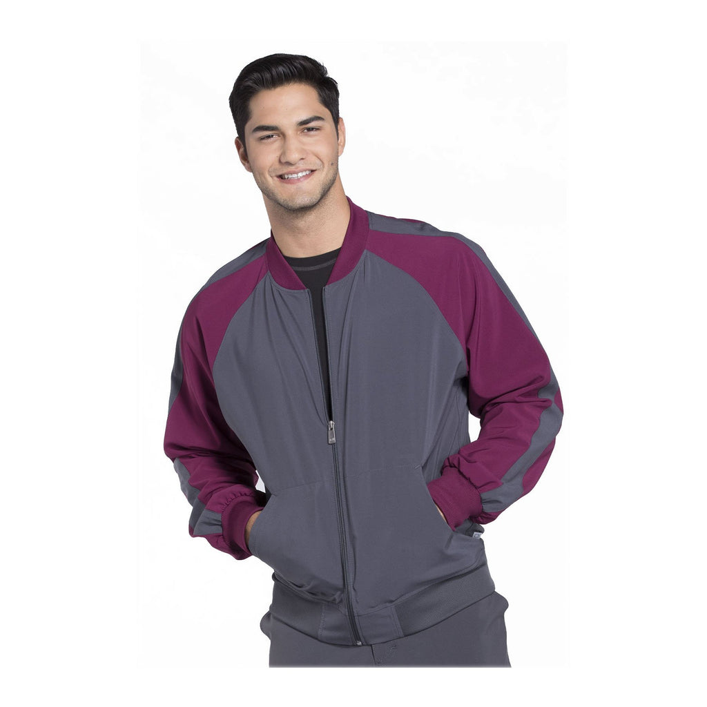 Cherokee Warm Up Jacket Infinity Men Colorblock Zip Up Warm-Up Jacket Pewter Warm Up Jacket