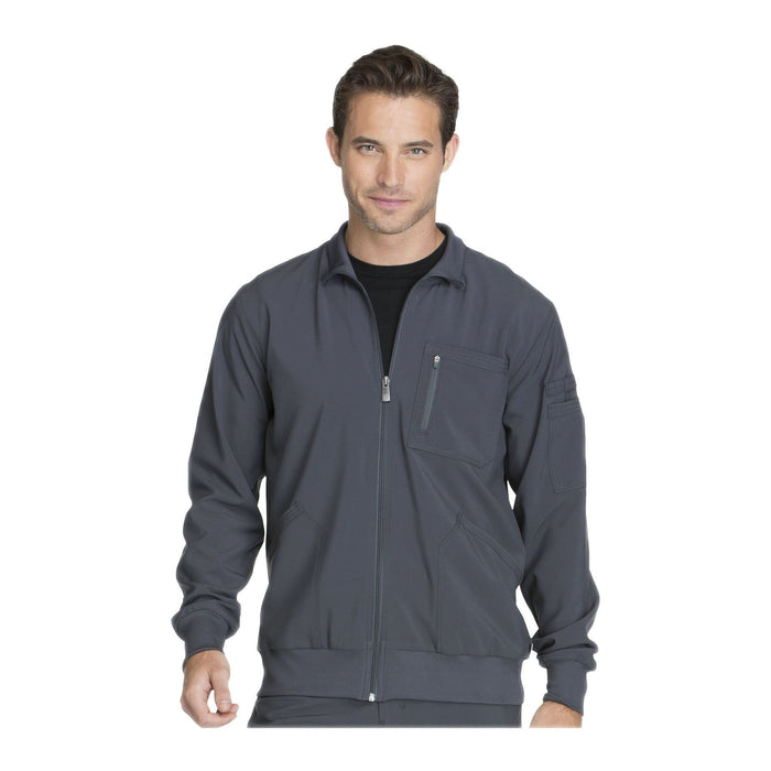 Cherokee Warm Up Jacket Infinity Men Zip Front Jacket Pewter Warm Up Jacket